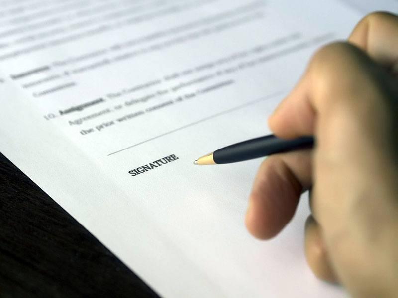Signature du contrat de professionnalisation
